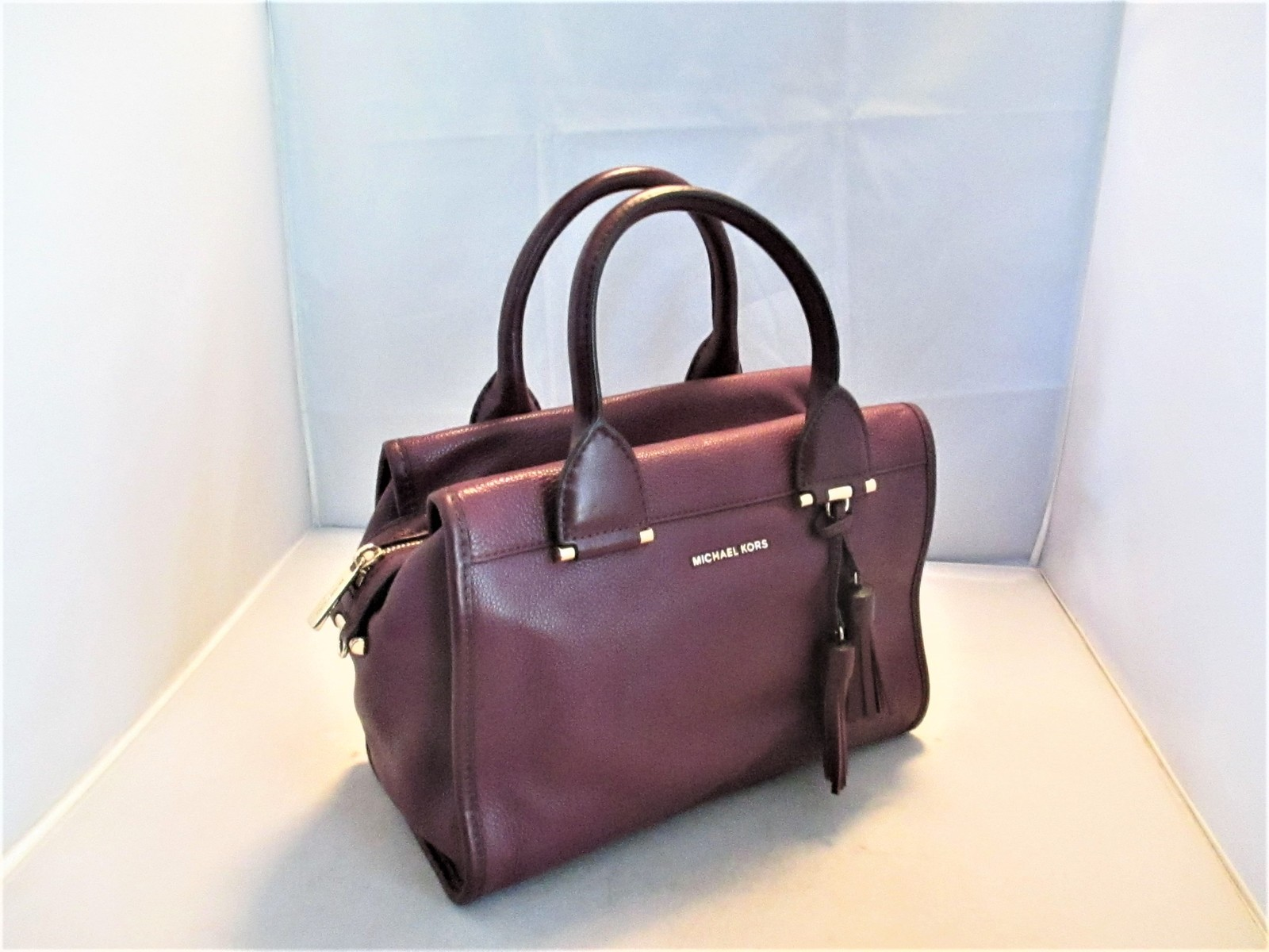 56b626cc7a3c Michael Kors Geneva Large Leather Satchel, Shoulder Bag, Tote, Cross-Body  $378