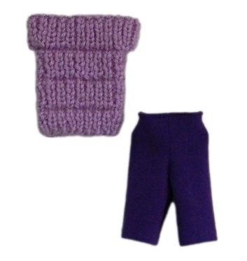 Barbie knit top bike shorts 2  pur 50