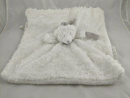Blankets & Beyond White Bear Lovey Security Blanket Pacifier Stuffed Animal - $8.95