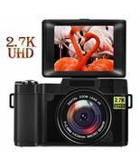 Digital Camera 24.0 MP Vlogging Camera 2.7K Ultra HD 3.0 Inch 180 Degree... - $402.52