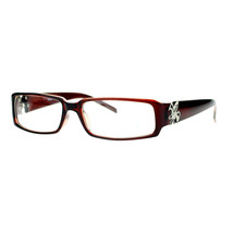 Fleur de lis Clear Lens Glasses Womens Fashion Rectangular Eyeglasses - £7.61 GBP+