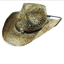 CS60-113 WESTERN COWBOY HATS SEAGRASS COWBOY HAT  One Size NWT FREE SHIP... - $37.39
