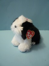 "NEW Ty Beanie Babies POOFIE Sheep Dog Puppy 6"" Plush 2001 Retired MINT - $8.42"
