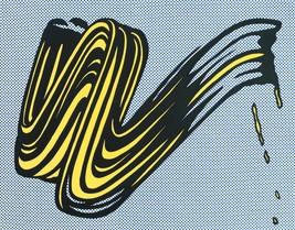 "Roy Lichtenstein "" Brushstroke "" HD print on canvas huge wall picture 36... - $29.69"