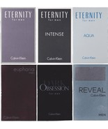 6 Calvin Klein Samples Lot Eternity Intense Aqua Euphoria Dark Obsession Reveal - $11.95