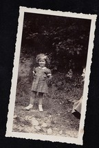 Antique Vintage Photograph Adorable Little Girl Standing in Yard Kate Sh... - $5.35
