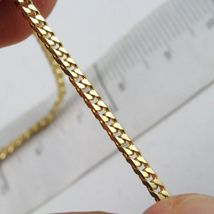 MASSIVE 18K GOLD GOURMETTE CUBAN CURB CHAIN 2.8 MM 24 IN. NECKLACE MADE IN ITALY image 3