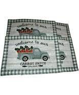 Carrot Patch Tapestry Placemats Set of 4 Easter Spring - $29.69