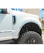 FTFD237 17-21 Ford F-250 F-350 Super Duty POLISHED Stainless Steel Fende... - $106.95