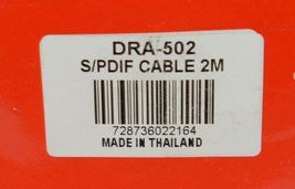 Hosa Technology DRA502 SPDIF Coaxial Cable 2M True 75 Ohm image 3