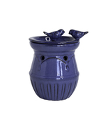 Home Indoor Decorative Scented Blue Birds Full Size Ceramic Wax Warmer - Blue - $23.63