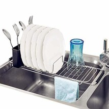 SANNO Small Compact Expandable Dish Drying Rack Over Sink, Dish Drainer ... - $16.73