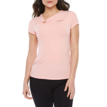 Bold Elements Asymmetrical Neck Short Sleeve Blouse Size M New Hampton P... - $14.99