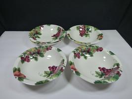 "Set(S) Of 5 - Royal Doulton Vintage Grape 7"" SOUP/CEREAL Bowls - England - Nice - $58.80"
