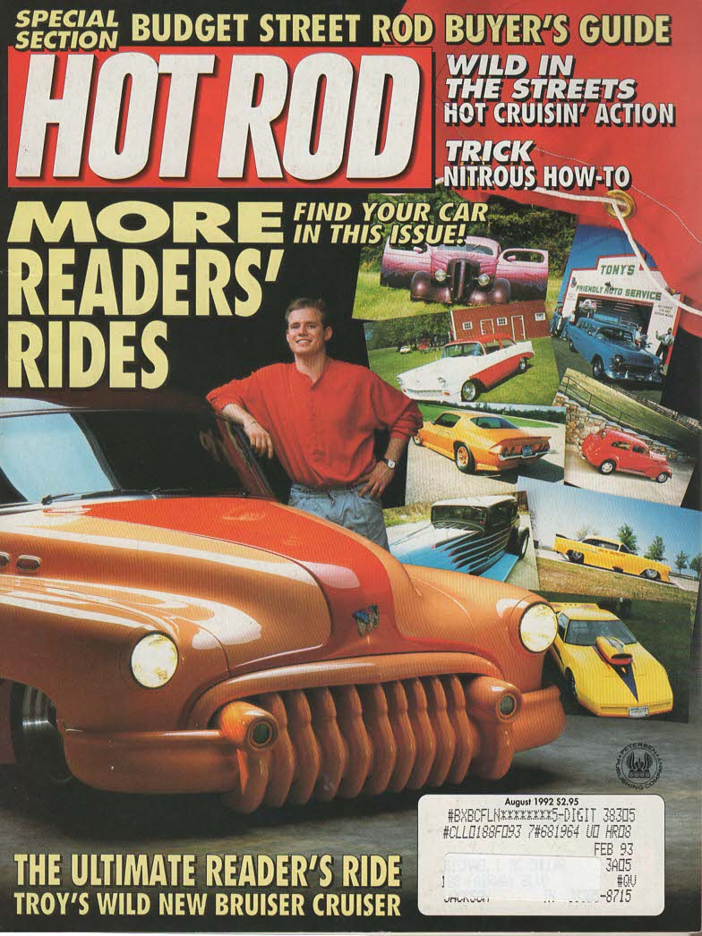 Primary image for Hot Rod Magazine August 1992 Budget Steet Rod Buyer's Guide