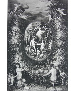 NUDE Mythology Offering to Cybale Cherubs - Victorian Era Print - $12.15
