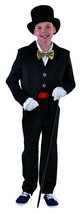 KIDS - Black Tailcoat , Cabaret / Show / Victorian    - ages 3 to 14   - $22.52