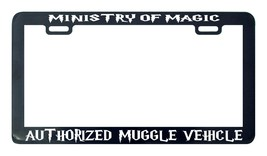Ministry of magic authorized muggle vehicle license plate frame holder - $5.99