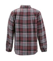 Men's Casual Flannel Button Up Plaid Fleece Warm Sherpa Lined Lightweight Jacket image 4