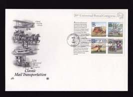 Classic Mail Transportation #2438 Sheet Large Cover Washington Dc 1989 Pcs Ac - $5.34