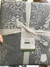 Pottery Barn Carins Duvet Cover Set Gray King 2 King Shams Medallion 3pc... - $158.89