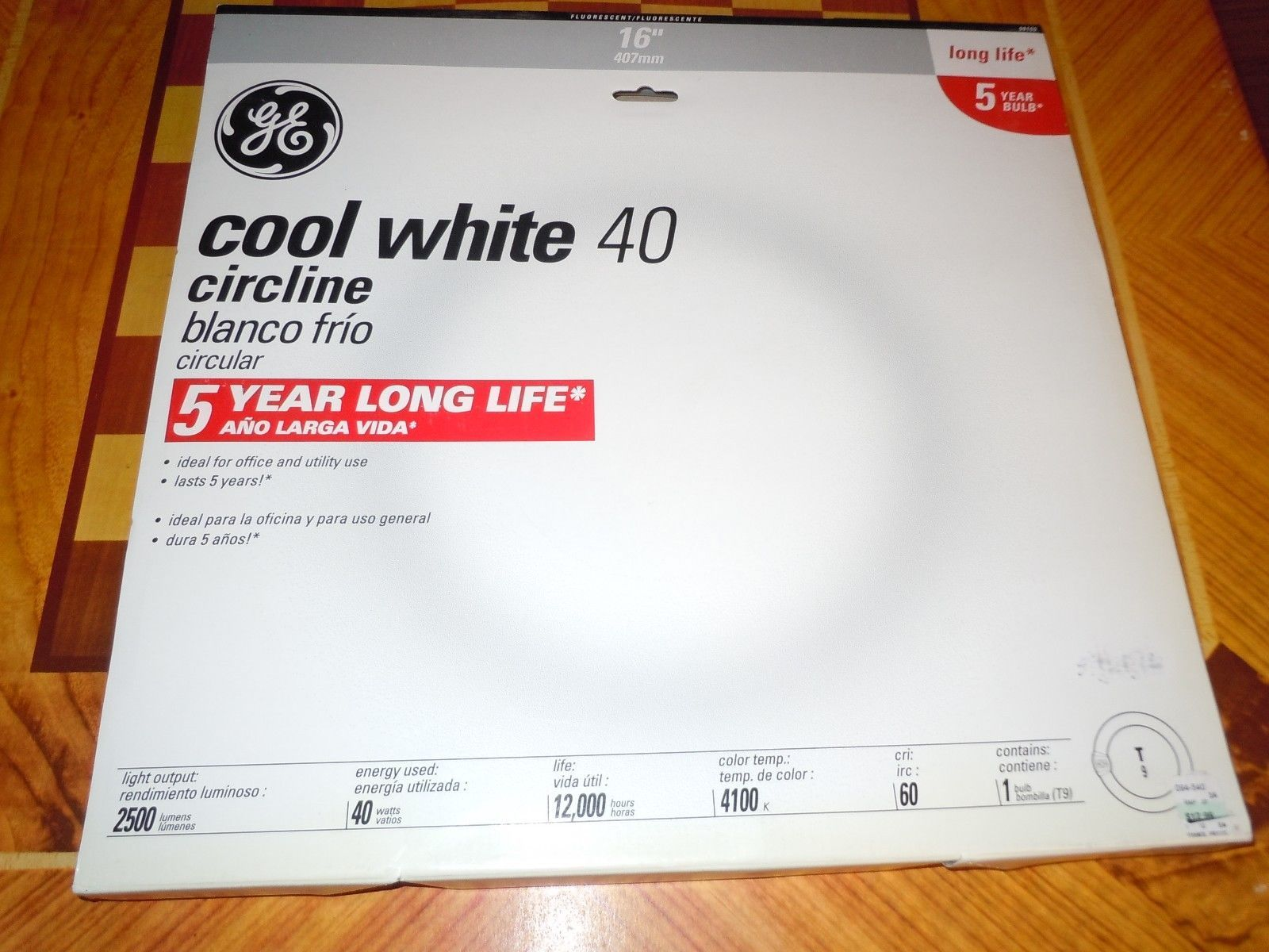 GE Circline Cool White Fluorescent Lamp Bulb 4 Pin 40W General Electric image 3