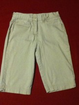 Girls Size 12 Slim Izod capri pants khaki shorts uniform - $11.25