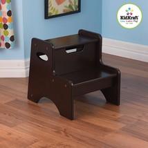 KidKraft 15502 Kids Children's Two Step Up Wooden Stool Dark Brown Espresso NEW - $51.95