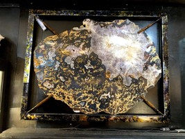 AGATE BRAZILIAN BLACK AND GOLD CRYSTAL QUARTZ TREASURES OF THE EARTH - $49,000.00