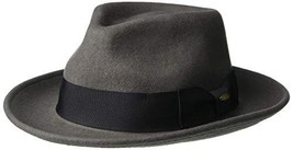 Scala Classico Men's Crushable Water Repelant Wool Felt Fedora Hat, Grey... - $68.37
