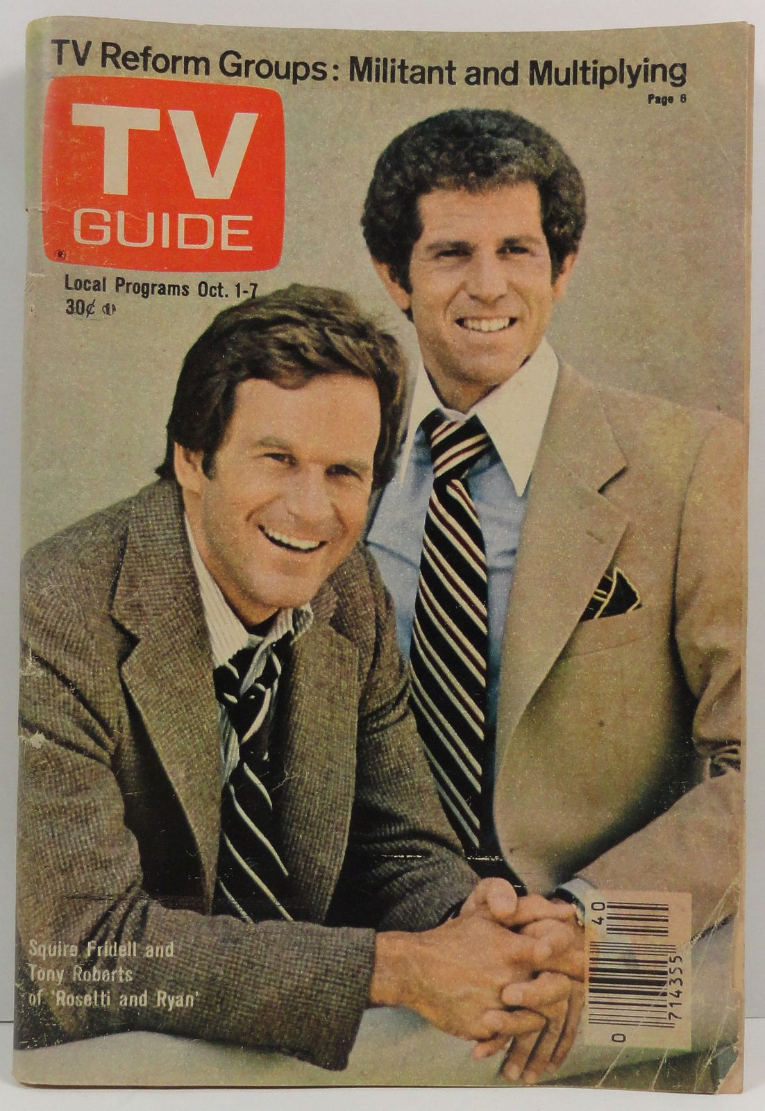 Primary image for TV Guide Magazine October 1, 1977  Squire Fridell Tony Roberts