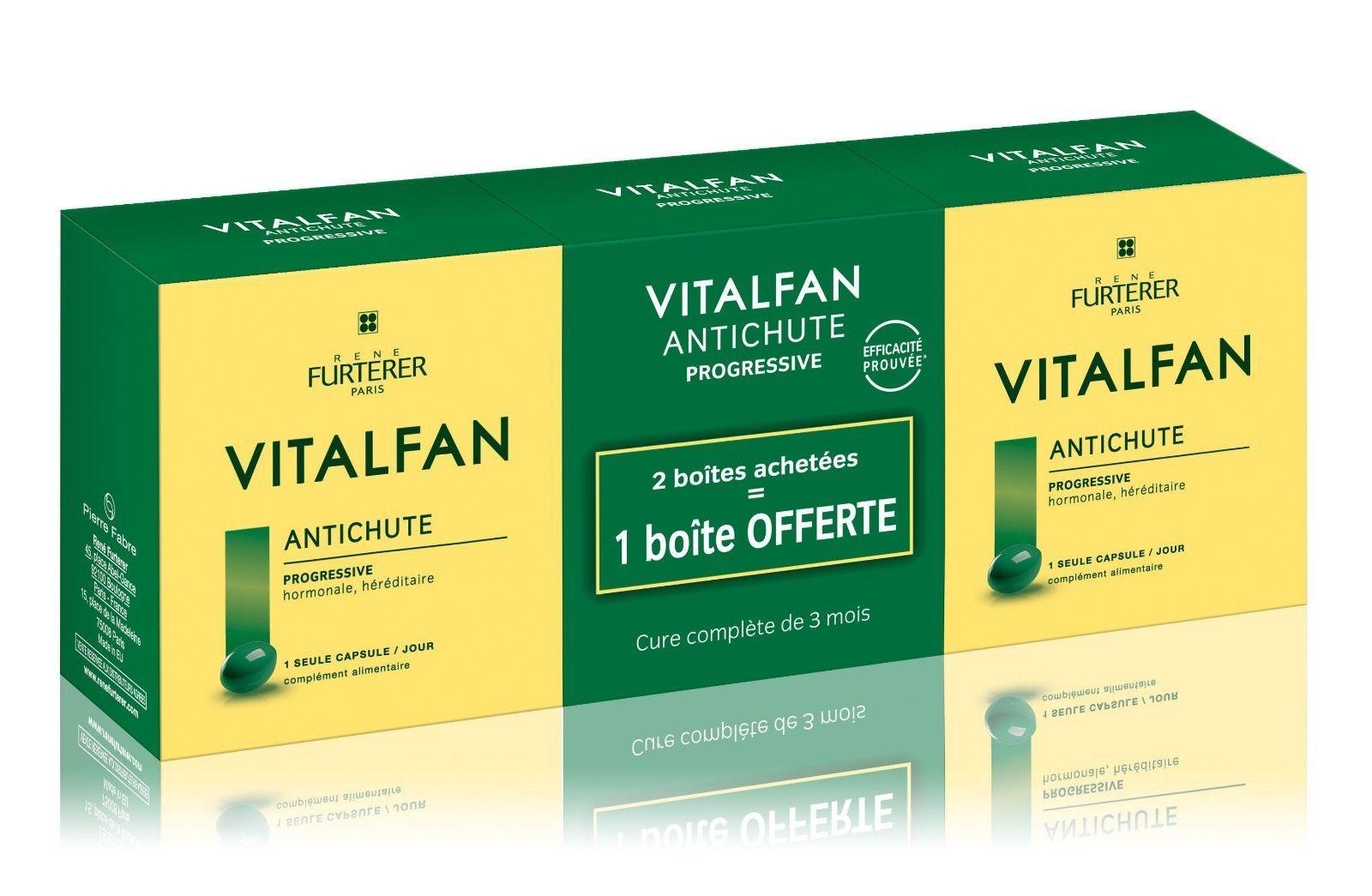 Genuine Rene Furterer Paris VITALFAN TRIO Chronic hair loss 30 capsules vitamin - $90.50