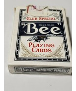 BEE Casino Used Playing Cards Poker Club Special Cambric Finish Excalib... - $9.49