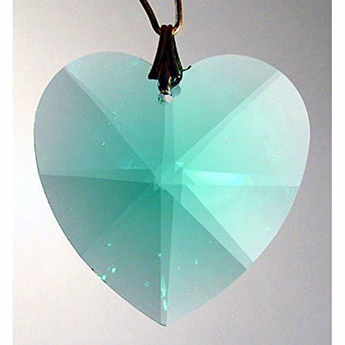 Swarovski 28mm Antique Green Large Crystal Faceted Heart Prism