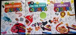 3 School Zone Coloring Books Educational Relaxing Fun at Home New Full Size - $9.99