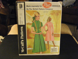 """McCall's """"D"""" Post Cereals Misses Dress in 2 Versions Pattern - Size 14 B... - $8.49"""