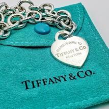 "REDUCED Tiffany & Co. 925 ""Please Return To Tiffany"" Heart Charm Bracele... - $140.00"