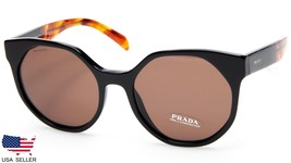 New Prada Spr 11T 1AB-8C1 Black / Brown Lens Sunglasses 55-19-140 B51mm Italy - $171.25