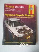 Toyota Corolla Haynes Repair Manual 1984-1992 Front Wheel Drive Models S... - $15.36