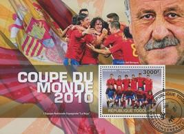 Togo World Cup 2010 Soccer Sport Souvenir Sheet - $17.80