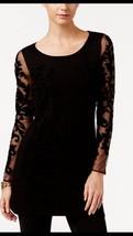 INC International Concepts Tunic Sweater Dress Black Sz S - $29.69