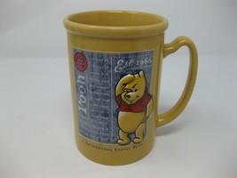 Pooh Disney  Coffee Mug - A Thoughtful Little Bear - Yellow Ceramic Disney - $24.74