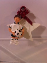 SOCCER STAR CHRISTMAS ORNAMENT----FREE SHIP--NEW - $9.68