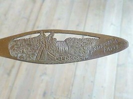 Vintage MINNEHAHA FALLS MN Minnesota Sterling Silver Souvenir Spoon Cut ... - $29.69