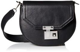 Rebecca Minkoff 'Medium Paris' Leather Saddle Bag ,  Black , MSRP $295 - $158.39