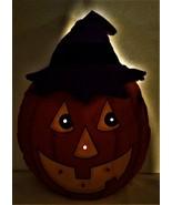 Halloween Pumpkin Hanging Flashing Plush Avon 1991 Vintage - $14.00