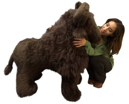 American Made Giant Stuffed Brown Buffalo 44 Inch Huge Soft Big Plush An... - $164.20