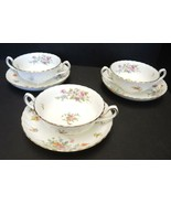 Three  Minton Cream Soup Sets - Marlow Pattern - $42.74