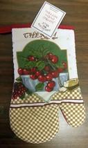 """1 Printed Kitchen Oven Mitt (10"""") CHERRIES by AM - $7.91"""