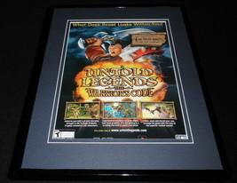 Untold Legends Warrior's Code 2006 PSP Framed 11x14 ORIGINAL Advertisement - $22.55